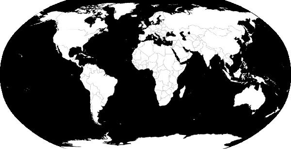 600x307 World Map Vector Bw Clip Art