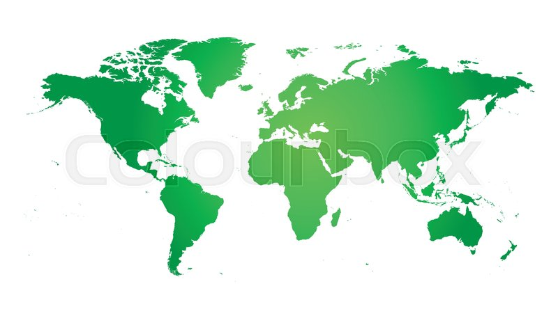 800x457 Colorful Political World Map. World Map Vector Template For