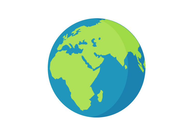 800x566 Planet Earth Free Flat Vector Icon