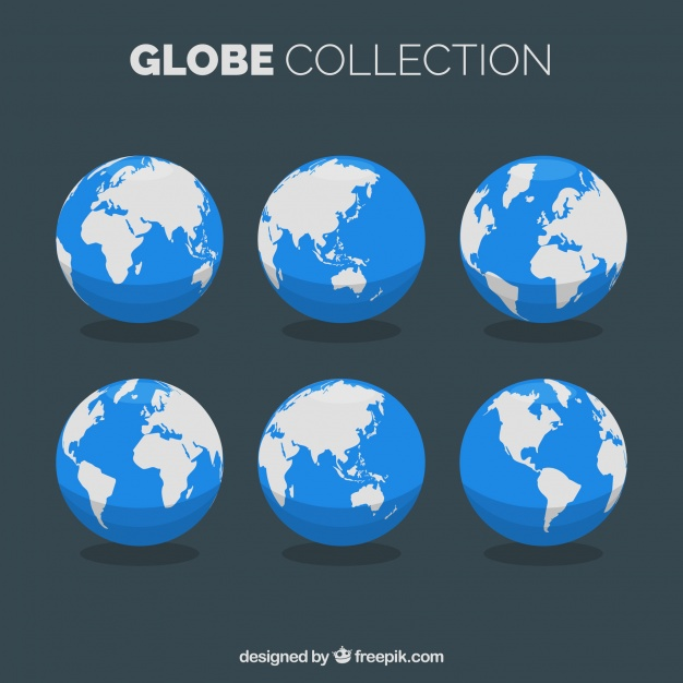 626x626 Selection Of Flat Earth Globes Vector Free Download