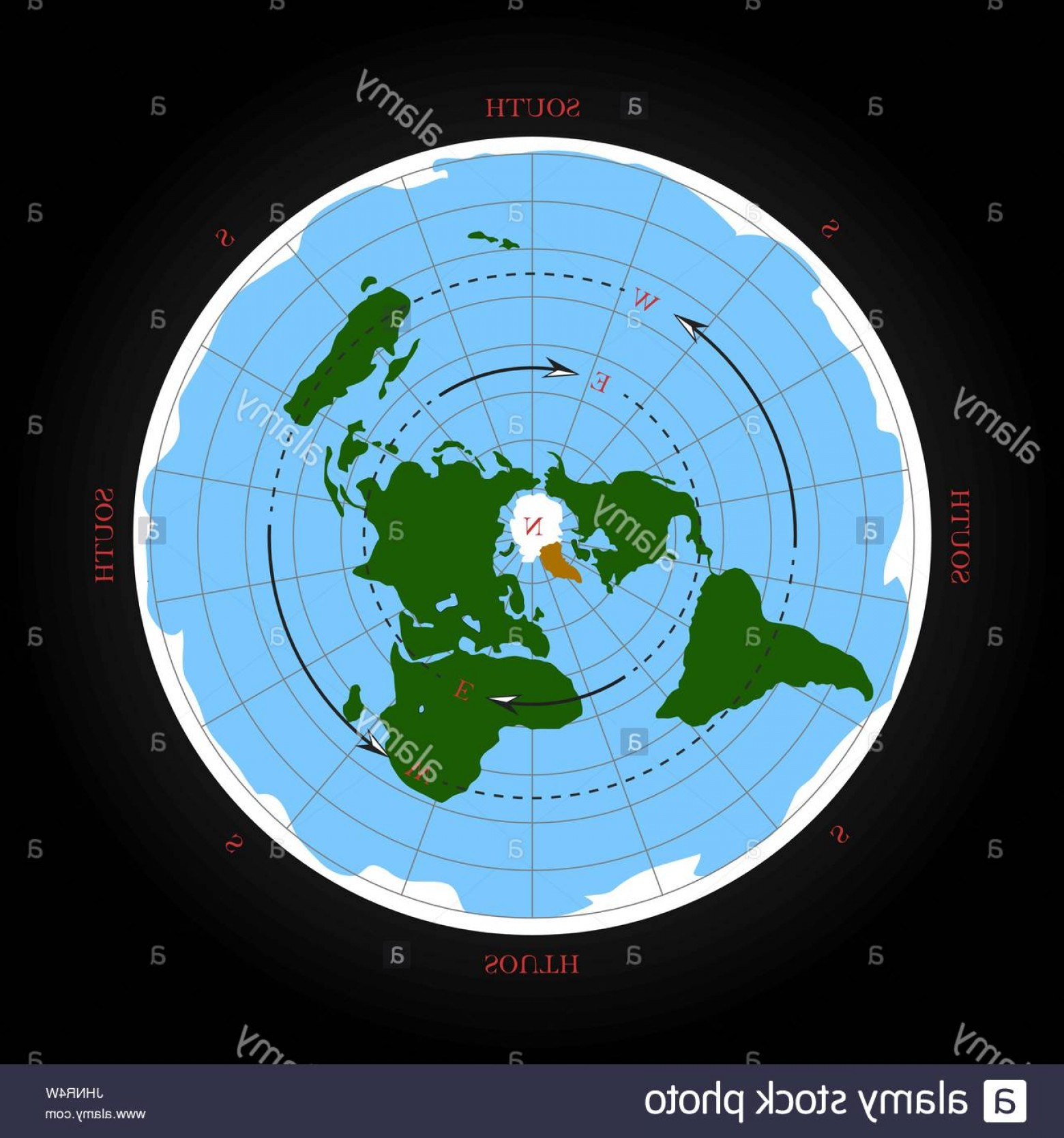1560x1668 Stock Photo Cardinal Direction On Flat Earth Map Isolated Vector