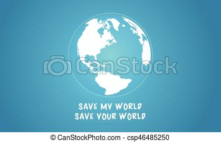 450x290 Vector Flat Earth Day With World Collection Stock.