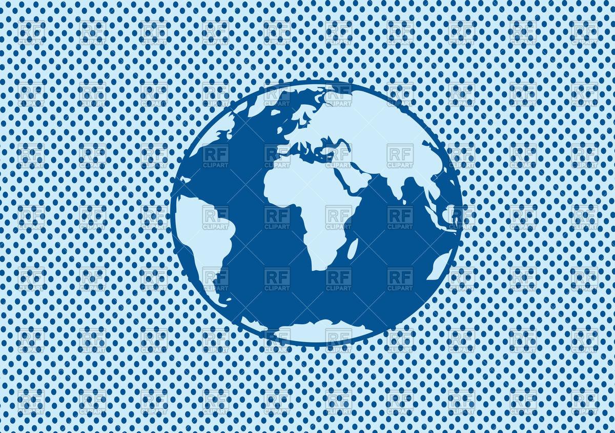 1200x844 Blue Flat Globe Vector Image Vector Artwork Of Objects Tumdee
