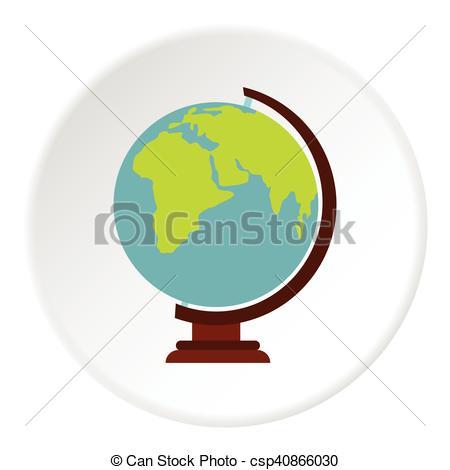 450x470 Globe Icon, Flat Style. Globe Icon. Flat Illustration Of Globe
