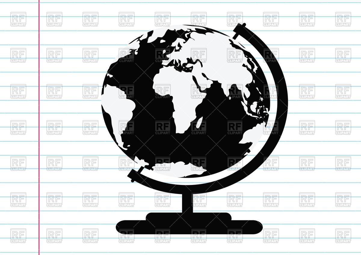 1200x848 Black Flat Globe Vector Image Vector Artwork Of Objects Tumdee
