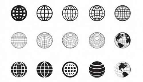 500x288 Vector Globe Graphics 30 Free Sets For Creating Modern Designs