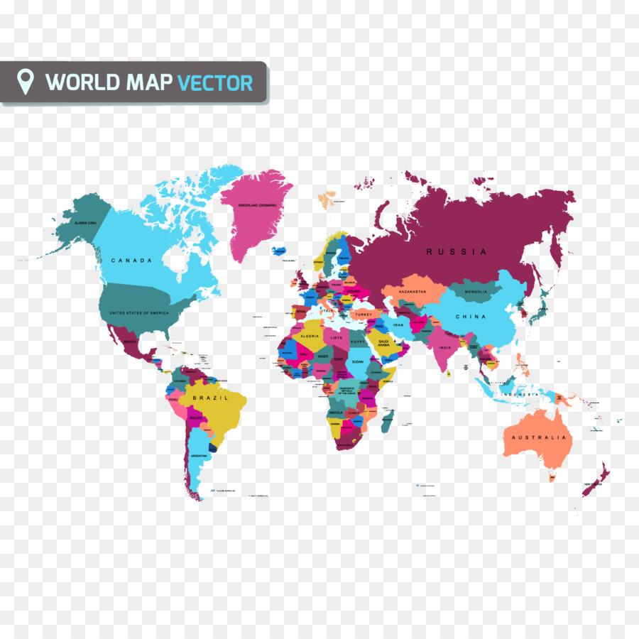 900x900 World Map Globe