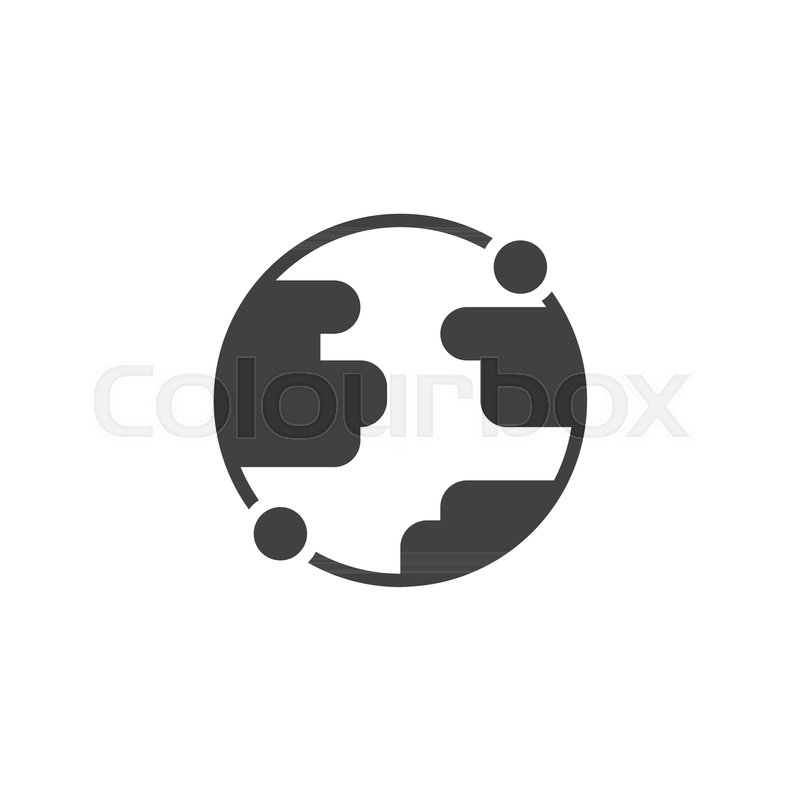 800x800 Earth Globe Vector Icon. Filled Flat Sign For Mobile Concept And