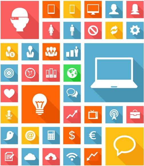 503x582 Flat Icons 2 Ai Format Free Vector Download