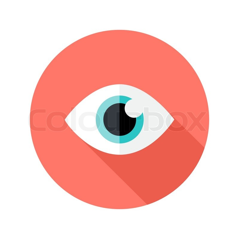 800x800 Illustration Of Vision Eye Circle Flat Icon Stock Vector Colourbox