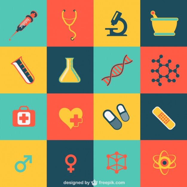 626x626 Medical Flat Icons Vector Free Download