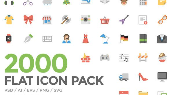 590x330 60 Free Flat Icons In Different Shapes Psd, Vector