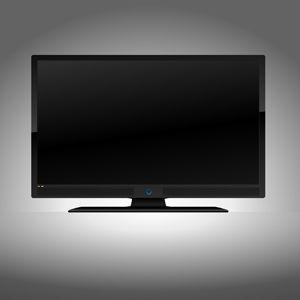 300x300 Flat Screen Tv Vector Illustration Of A Front Facing Black Flat
