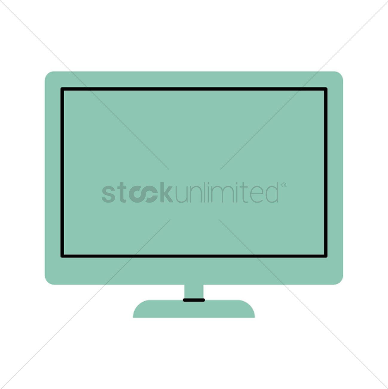 1298x1300 Flat Screen Television Vector Image