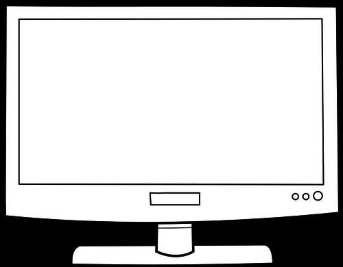 500x390 Flat Screen Television Set Vector Image Public Domain Vectors