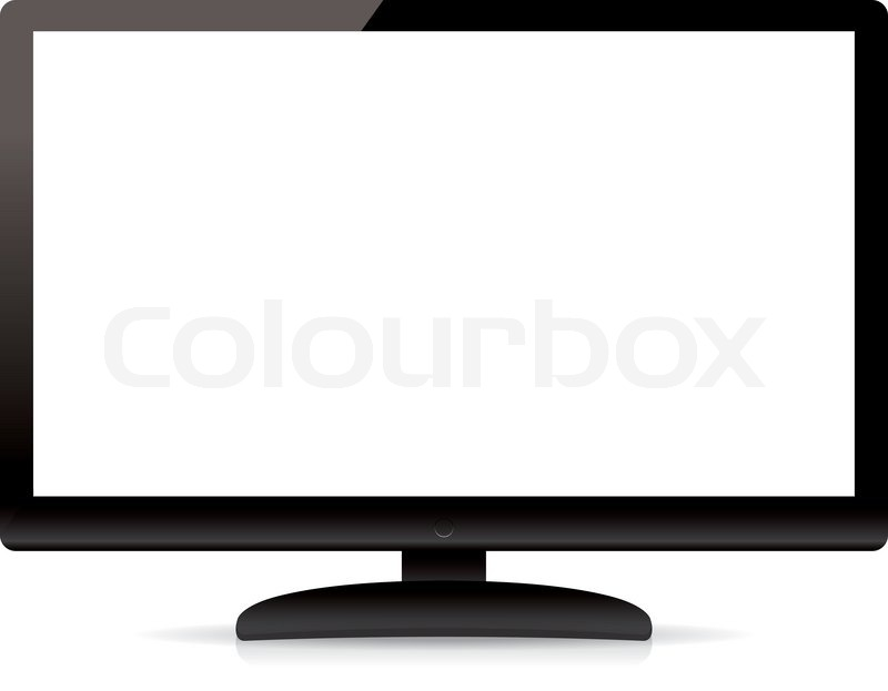 800x623 Modern Blank Flat Screen Tv Isolated On White Background Stock