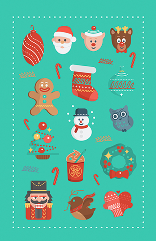 500x774 Christmas Vector Graphics Vector Graphics Graphic Design Junction