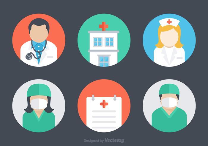 700x490 Free Flat Hospital Vector Icons