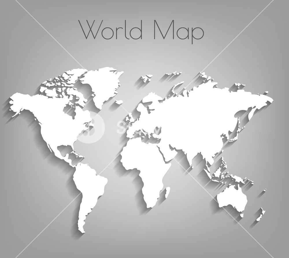 1000x892 Image Of A Vector World Map. Vector World Map Background With