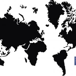 300x300 World Map Outline Free Best Of Flat World Map Outline Royalty Free