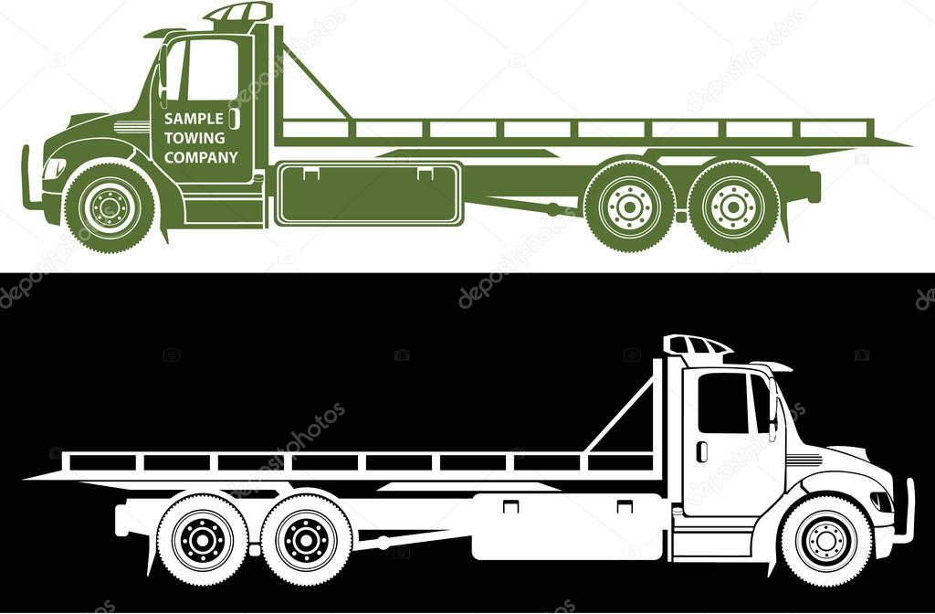 1024x672 Flatbed Tow Truck Clip Art