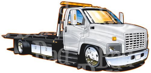 500x244 Flatbed Clipart