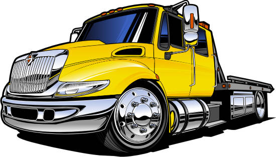 550x313 Flatbed Tow Truck Clipart Clipartfest