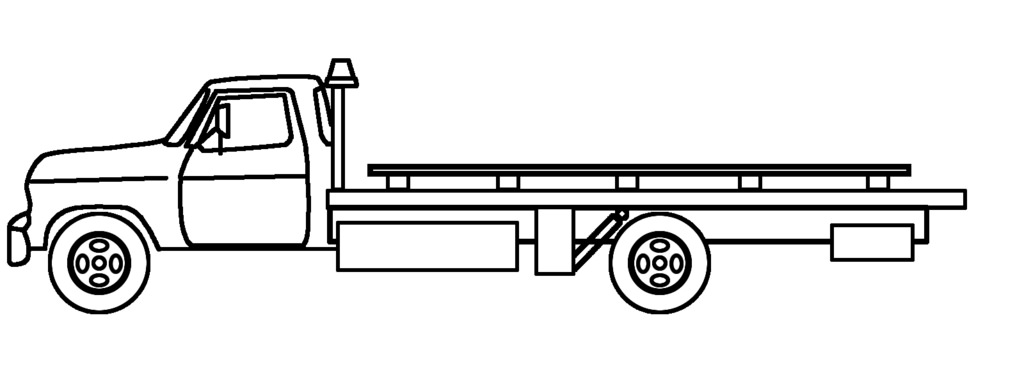 1024x384 Collection Of Flatbed Tow Truck Drawing High Quality, Free