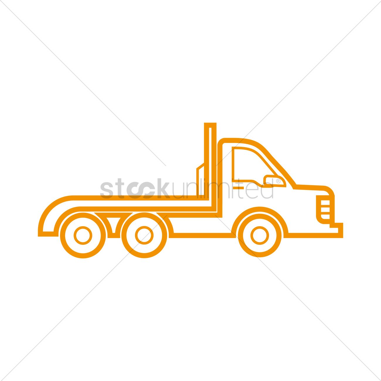 1300x1300 Flatbed Truck Icon Vector Image