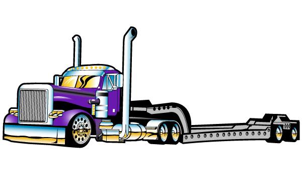 600x375 Free Flatbed Semi Truck Vector Free Psd Files, Vectors Amp Graphics