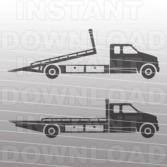 570x570 Rollback Truck Svg Filetow Truck Svg Fileflatbed Truck Svg Etsy