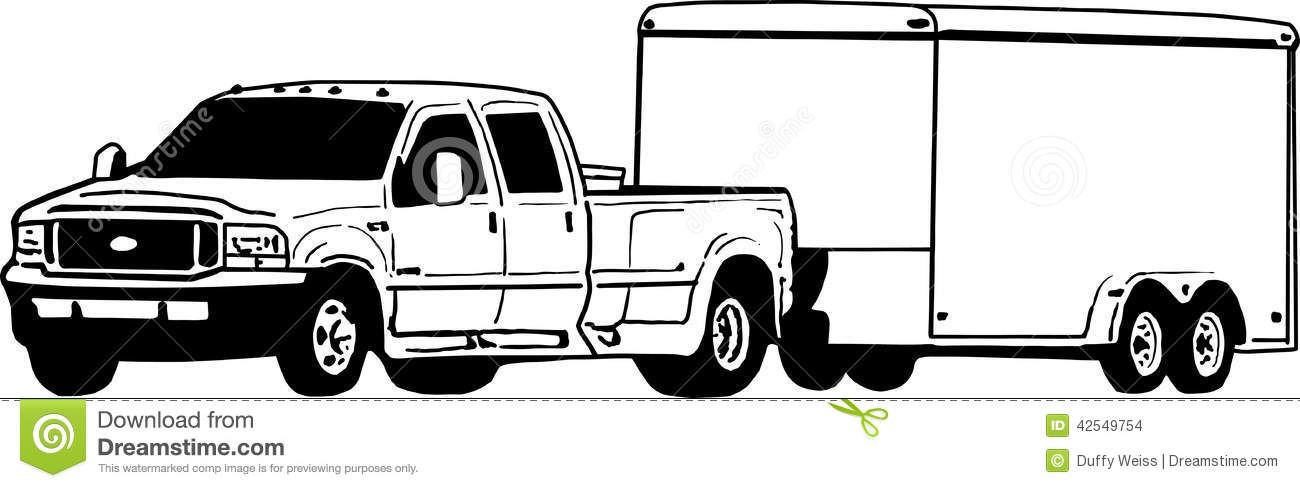 1300x488 Truck Clipart Flatbed Trailer