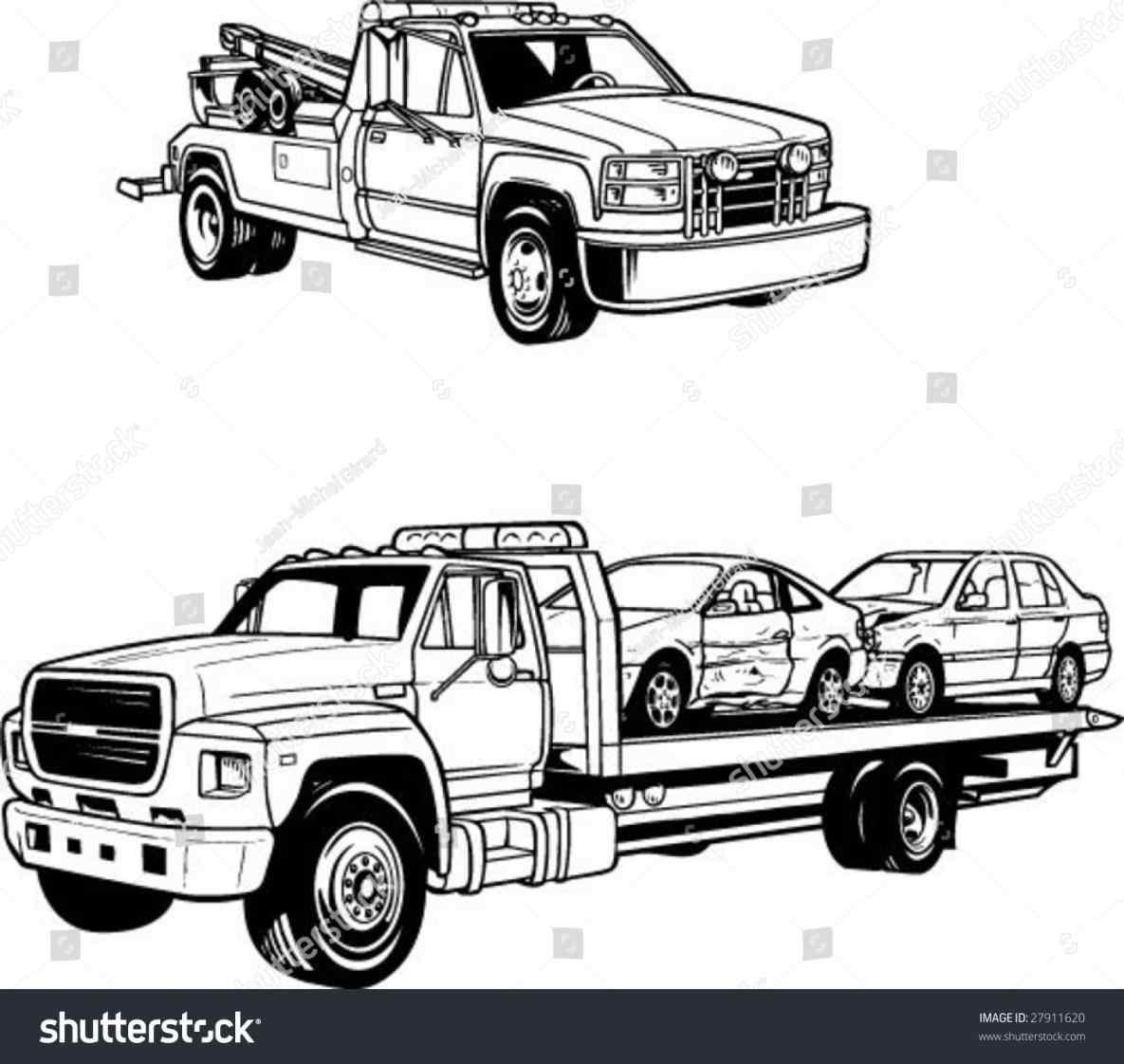 1185x1122 Flat Bed Truck Vector Truckindo.win