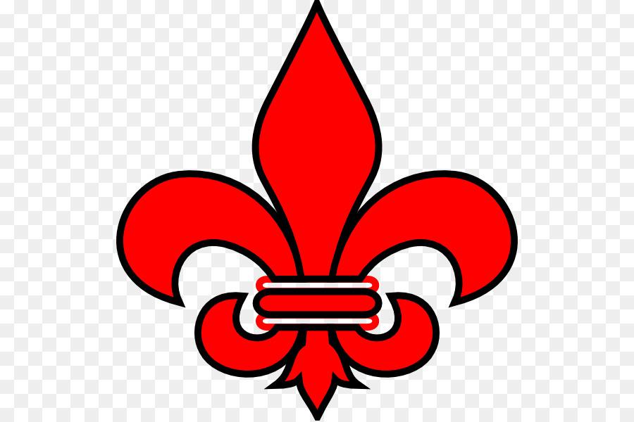 900x600 Download Fleur De Lis New Orleans Saints Red Clip Art Free Fleur