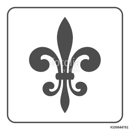 500x500 Fleur De Lis Symbol. Fleur De Lis Sign. Royal French Lily