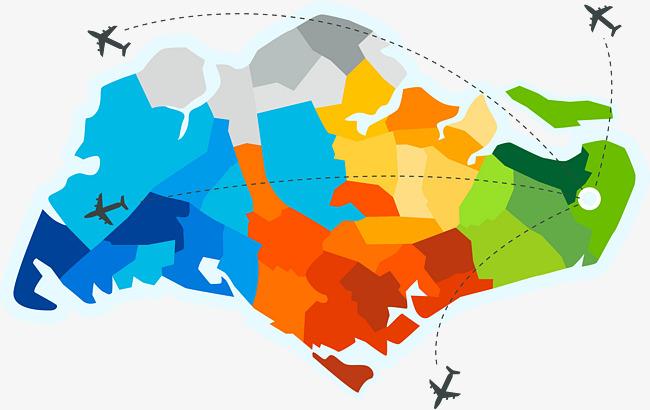 650x410 Color Flight Map Of Singapore, Color Vector, Flight Vector, Map