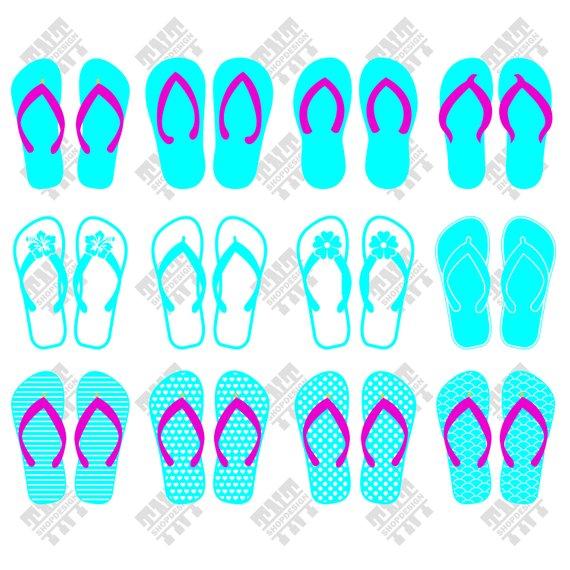 570x570 Summer Flip Flop Svg Summer Flip Flop Vector Summer Flip Etsy