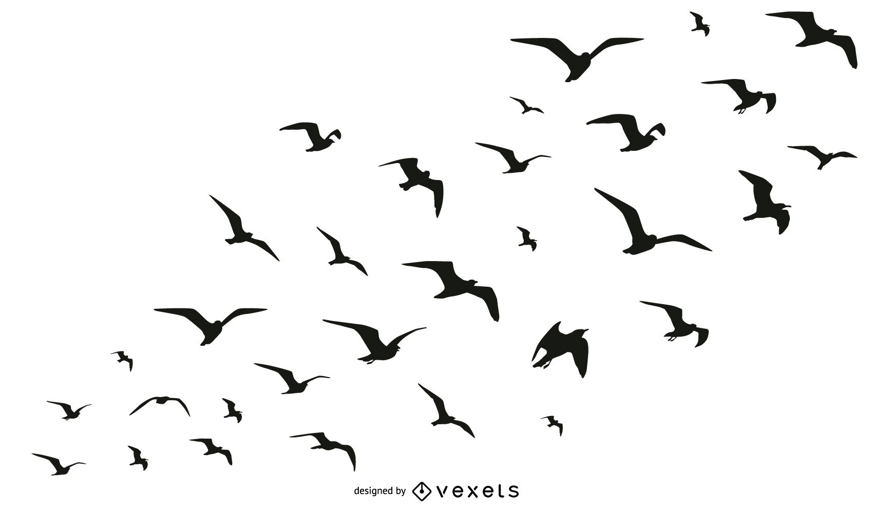 1700x1000 Birds Flock Silhouette Collection