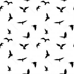 300x300 A Flock Of Flying Birds Vector Shopatcloth