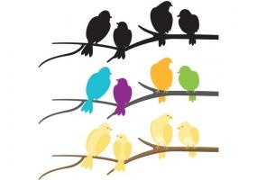 285x200 Flock Of Birds Vector Free Vector Graphic Art Free Download (Found