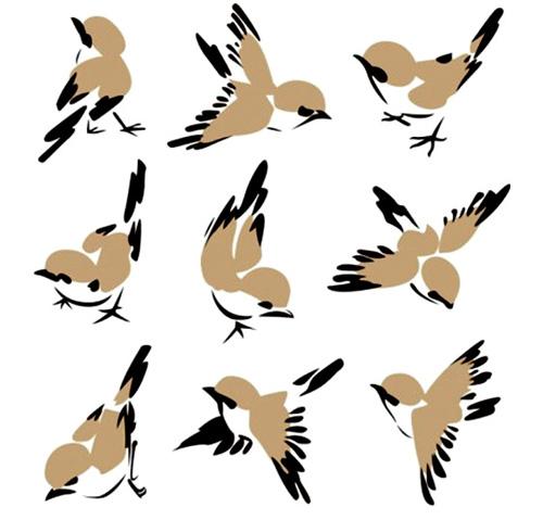 500x479 Cute Sparrow Vector