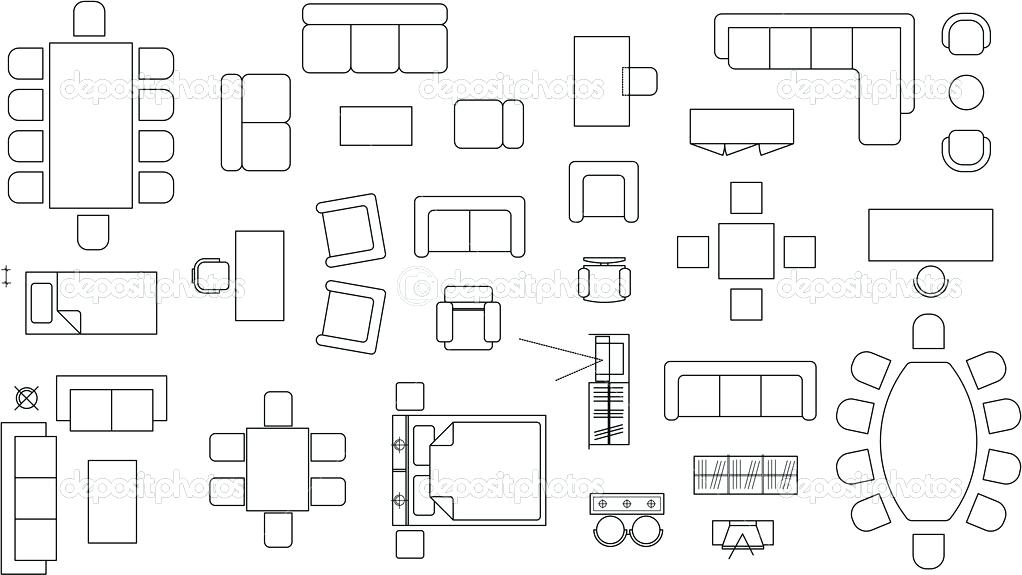 1022x575 Floor Plan Furniture Samples Floor Plan Furniture Vector Kimidesign