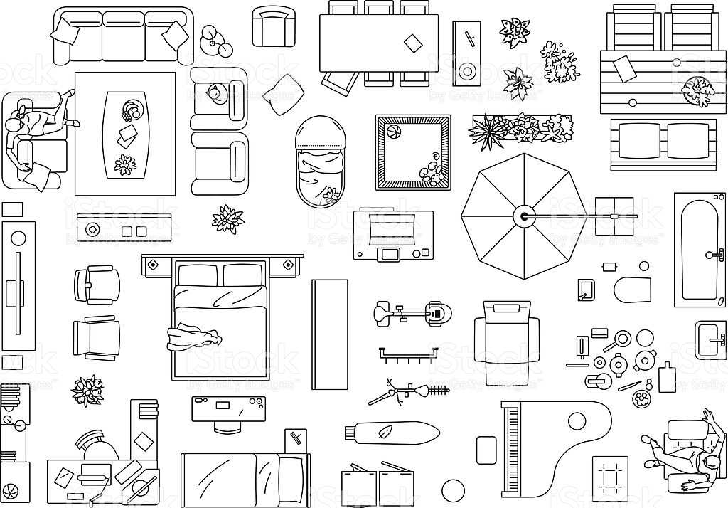 1024x714 Floor Plan Furniture Vector Floor Plan Furniture Symbols Bedroom