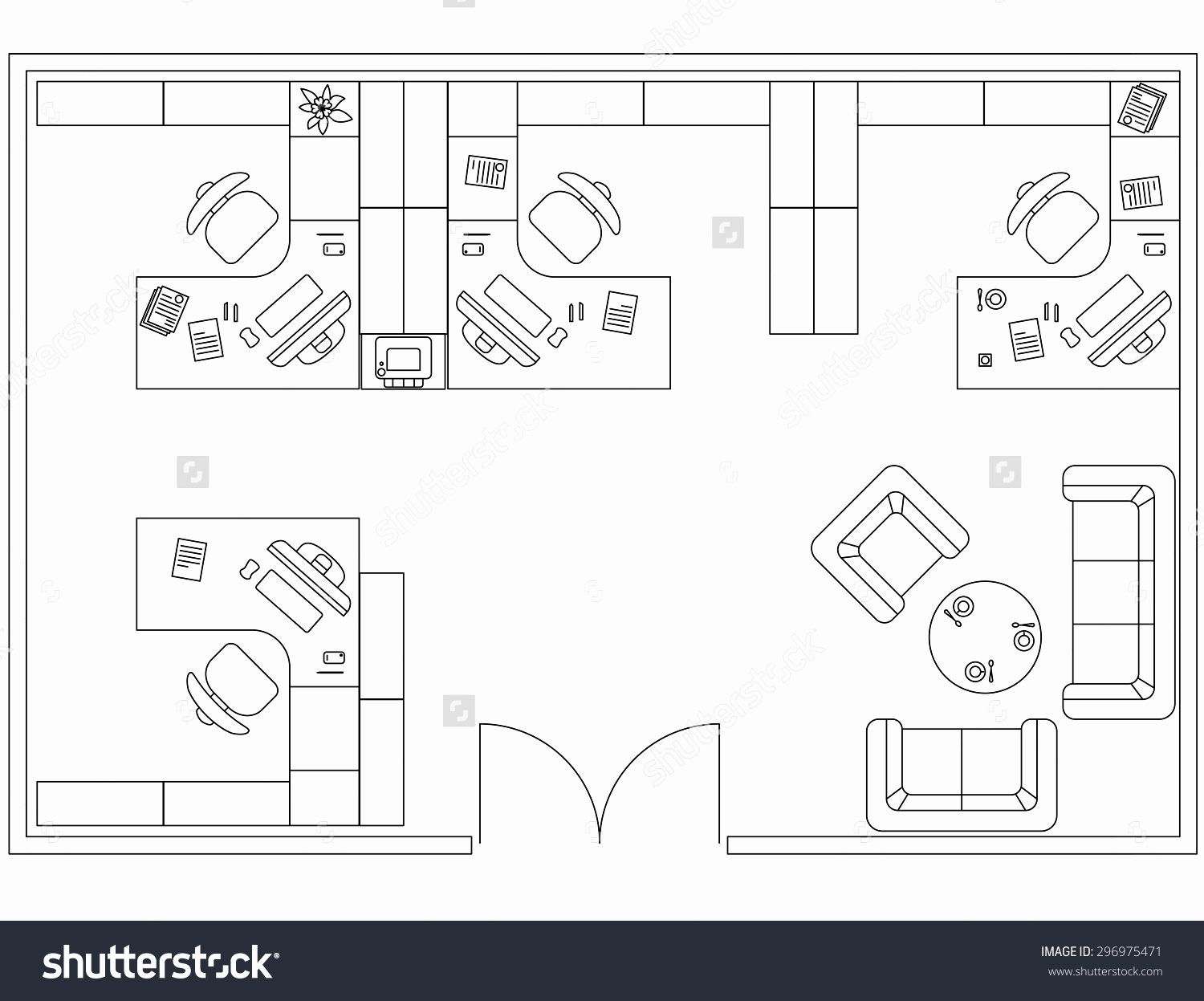 1500x1247 Standard Size Of House Plan Awesome Floor Plan Furniture Vector