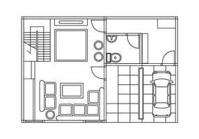 286x200 Floor Plan Free Vector Art