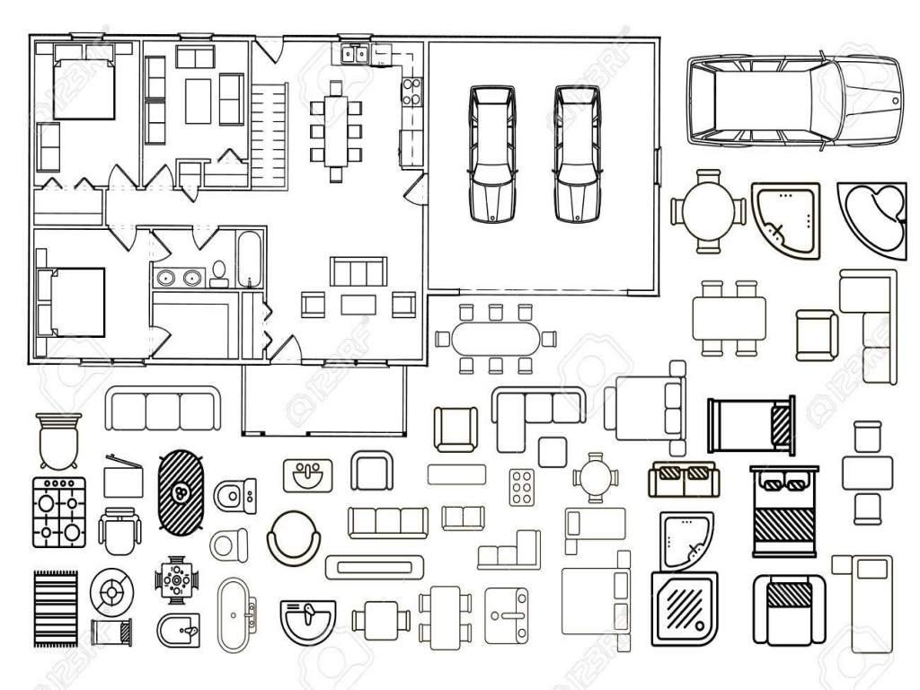 1024x768 Floor Plan Vector Free Download Inspirational Floorplan With