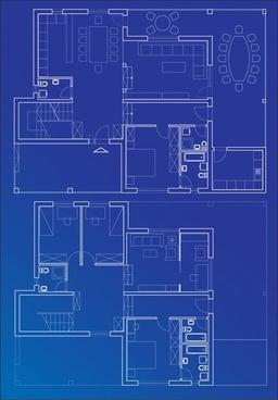 256x368 6 Interior Floor Plan Drawing Theme Vector Free Vector In