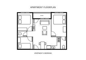 286x200 Free Floor Plan Vector