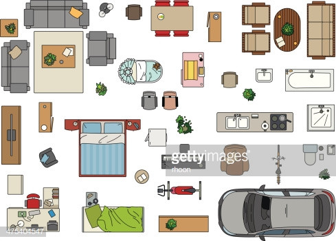 489x350 Furniture Plan Belle Floor Plan Furniture Vector Art