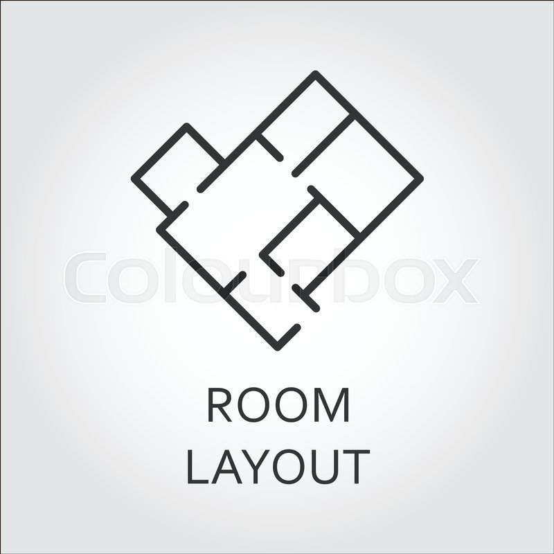 800x800 Label Of Room Layout. Architectural Schematic Floor Plan Of The
